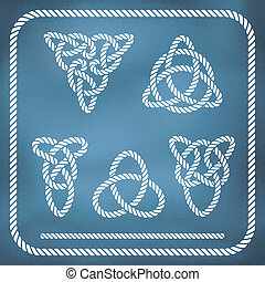 Celtic rope knotes. Vector, gradient mesh