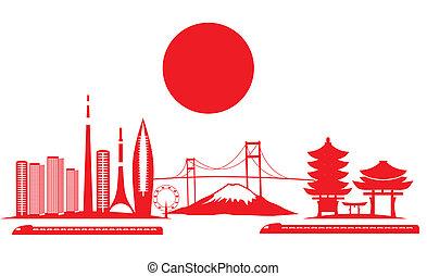 tokyo big city vector art