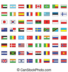 Collection of flags Vector design