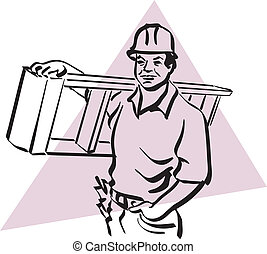 construction worker - illustration of a construction worker...