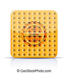 Vector cookies app icon on white background. Eps 10