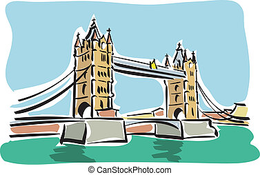 London (Tower bridge) - Illustration of the Tower bridge in...