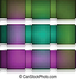 Abstract seamless blocks 3d structure reflection colorful vector