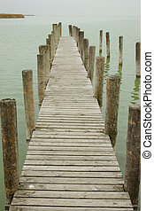Landing Pier - A deserted landing pier on a gloomy fall day...