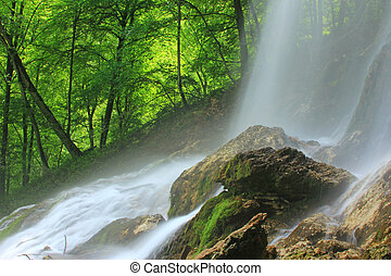 Waterfall of Bad Urach, Germany - The waterfall of Bad Urach...