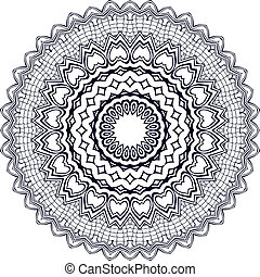 Circle ornament. - Circle floral ornament, EPS8 - vector...