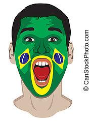Brazil fan face