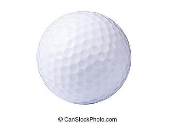 Golfball isolated on white background