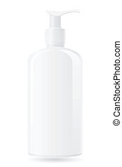 plastic bottle with a spray vector illustration