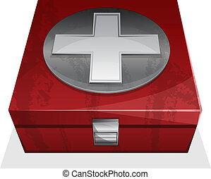 First aid kit box - Vector illustration of First aid kit...
