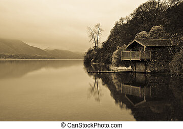 The Boathouse - The boathouse at Ullswater looking out over...