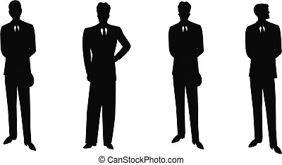 males in suits and ties  - retro males in suits posing