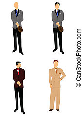 vintage males in suits - retro males in suits and ries