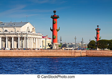 View of St. Petersburg. Rostral columns - View of St....