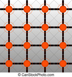Orange and Black Pattern on Graded Background