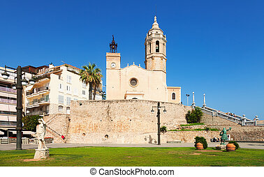 Church of Sant Bartomeu i Santa Tecla in Sitges Spain