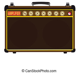 Power Amp - A guitarists valve amplifier isolated over a...