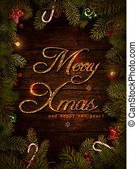 Christmas design - Xmas wreath - Christmas design - Merry...