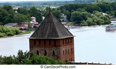 Fortress on the the River - HD1080: Top view on the river...