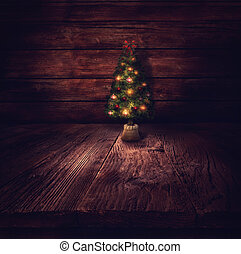 Christmas design - Christmas tree Xmas winter background in...