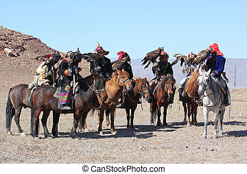 Mongolie, -, 25, JULY:, les, personne agee, mongol,...