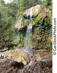 The waterfall at park of Soroa, a famous natural and...