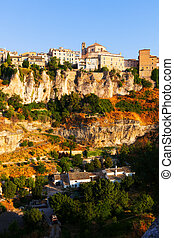 General view of Cuenca  in sumer. Castilla-La Mancha, Spain
