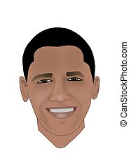 Barack Obama - Illustration of President Barack Obama