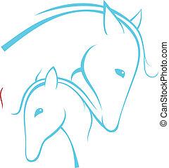 Contour of horses