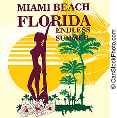 endless summer miami beach vector art