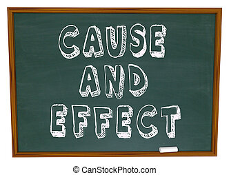 Cause and Effect Chalk Board Experiment Science Learning -...