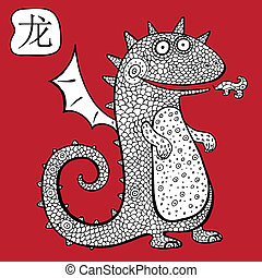 Chinese Zodiac. Animal astrological sign. dragon - Chinese...