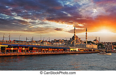 Istanbul at sunset, Turkey - Istanbul at a dramatic sunset...