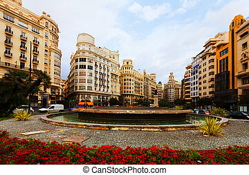 Placa del Ajuntament in Valencia, Spain - Placa del...