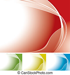 corner swoosh melt - Wave abstract background with copyspace...