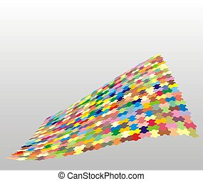 Colorful puzzle (isolated)