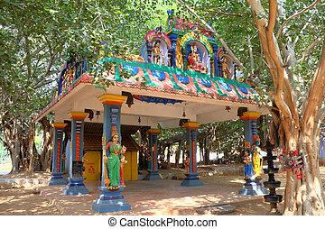 Hindu Temple.  Kanyakumari, Tamilnadu, India