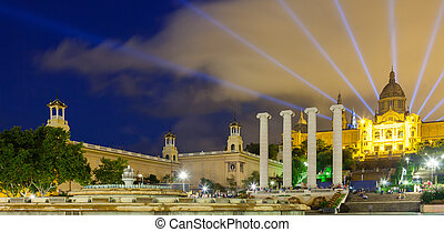 National Palace of Montjuic in evening