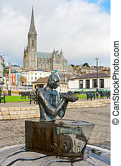 Kennedy Park. Cobh, Ireland - The Navigator statue in JF...