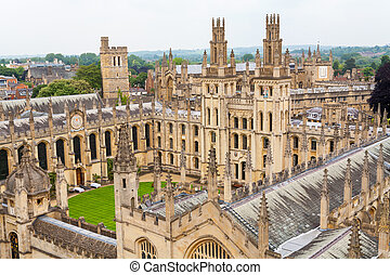 All Souls College. Oxford, UK - View of All Souls College at...