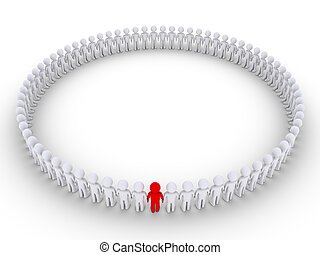People form a very big circle and one is different