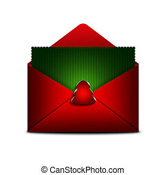 card in envelope with place for text over white background