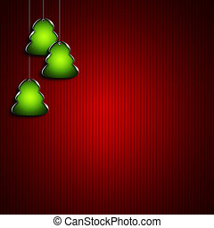 christmas trees with place for text over dark background