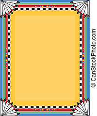 Native Border - A border or frame with a Native American...