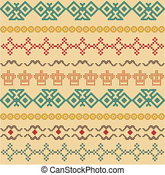 Imitation of cross-stitch, seamless geometric warm sweather...