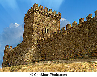 Old castle in Crimea. Summer 2007