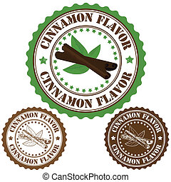 Cinnamon flavor stamp - Cinnamon flavor set of rubber...
