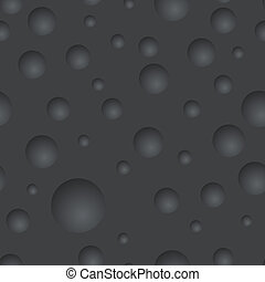 Seamless black rubber vector texture with round concaves.