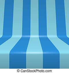 Blue painted bent vertical stripes vector background.