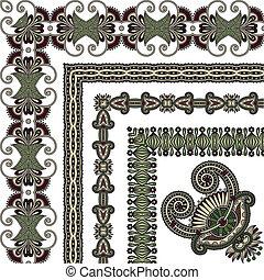 floral vintage frame design. Vector set
